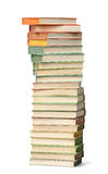 Stack of colorful books isolated Stock Image
