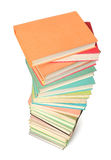Stack of colorful books isolated Stock Photos