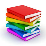 Stack of colorful books over white Royalty Free Stock Photos