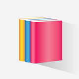 Stack of colorful books Royalty Free Stock Photo