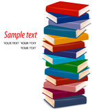 Stack of colorful books. Vector Royalty Free Stock Photo