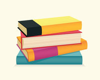 Stack of colorful books. Vector illustration Royalty Free Stock Photo