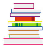 Stack Of Colorful Books. Vector Illustration Royalty Free Stock Images