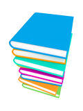 Stack of Colorful Books on White Background. Royalty Free Stock Photography