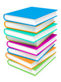 Stack of Colorful Books on White Background. Royalty Free Stock Photo