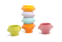 Stack of colorful bowls Royalty Free Stock Image