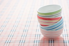 Stack of colorful bowls Royalty Free Stock Photo