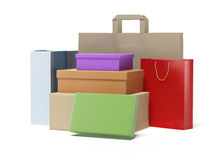 Stack of colorful boxes Royalty Free Stock Photo