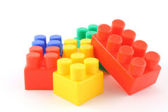 Stack of colorful building blocks Stock Photos