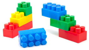 Stack of colorful building blocks - no trademarks Royalty Free Stock Images