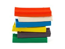 Stack of colorful clay Stock Photo