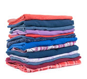 Stack of colorful clothes Royalty Free Stock Image