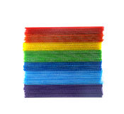 Stack of colorful  corrugated plastic sheets Stock Photography