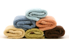 Stack of colorful cotton towels Royalty Free Stock Image