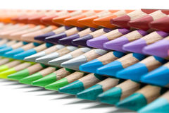 Stack of Colorful Crayons Royalty Free Stock Image