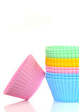 Stack of colorful cupcake liners Royalty Free Stock Photography