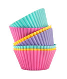 Stack of colorful cupcake paper cups Stock Photo
