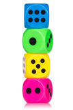 Stack of colorful dice Stock Photos
