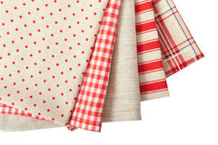 Stack of colorful dish towels Stock Images