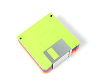 stack of colorful diskettes isolate on white background royalty free stock images