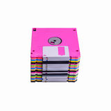Stack of colorful floppy disks Stock Photography