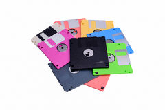 Stack of colorful floppy disks Royalty Free Stock Image
