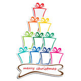Stack of colorful gift background Stock Image