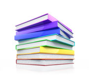 Stack of colorful glossy books. Stock Photos