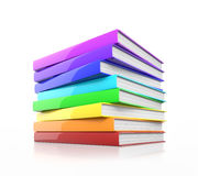 Stack of colorful glossy books. Royalty Free Stock Images