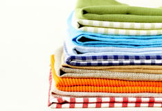 Stack of colorful kitchen napkins Stock Photo