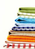 Stack of colorful kitchen napkins Royalty Free Stock Photo