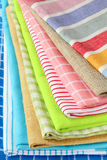 Stack of colorful kitchen napkins Stock Photography