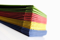 Stack of colorful loose-leaf binders Royalty Free Stock Photography
