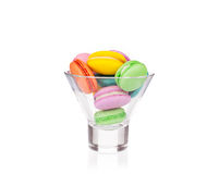 Stack of colorful macaroon cakes Royalty Free Stock Photos