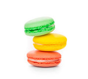 Stack of colorful macaroon cakes Stock Photos