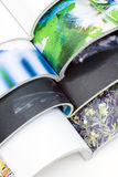Stack of colorful magazines. On white background Royalty Free Stock Image