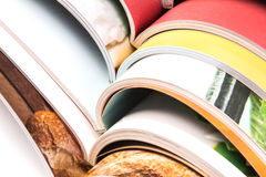 Stack of colorful magazines. Stack of the colorful magazines Royalty Free Stock Photography