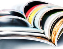 Stack of colorful magazines. Stack of the colorful magazines Stock Photography