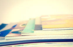 Stack of colorful magazines. Stack of the colorful magazines Royalty Free Stock Images