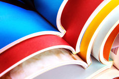 Stack of colorful magazines. Stack of the colorful magazines Stock Photos