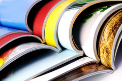 Stack of colorful magazines. Stack of the colorful magazines Royalty Free Stock Photo