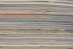 Stack of colorful magazines - background Stock Image