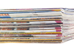 Stack of colorful magazines or documents Stock Image