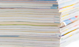Stack of colorful magazines or documents Stock Photos