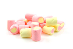 Stack of colorful marshmallows Royalty Free Stock Image
