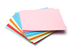 Stack of colorful memo note Royalty Free Stock Photo