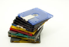 Stack of colorful minidiscs Stock Photography