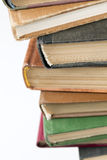 Stack of colorful old books Stock Image