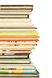 Stack of colorful old books background Stock Photos