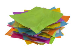Stack of colorful paper notes Stock Image